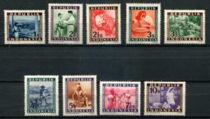 Indoensia SC# 30-38 Views, Scenes & People MNH
