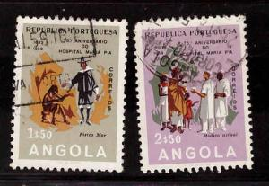 Angola  Scott 411-412 Used from 1958 set