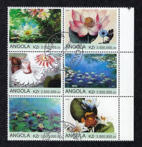 Angola Flowers/Water Lilies set of six Cancelled To Order
