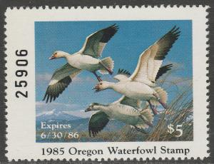 U.S.-OREGON 2, STATE DUCK HUNTING PERMIT STAMP. MINT, NH. VF