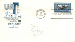 US FDC #1266 Cooperation, House Of Farnam (1535)