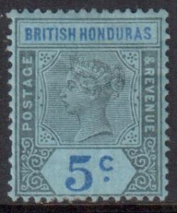 Br Honduras Scott 52 - SG55, 1891 Victoria 5c MH*