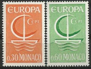 Monaco # 639-40   Europa  1966  Common Design      (2)  Mint NH