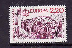 French Andorra-Sc#352-Unused NH Europa-1987-