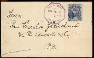 Guatemala 1895 Local Post German Union Deutsche Verein Ad Cover 92799