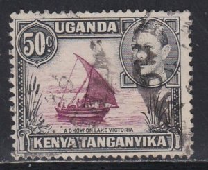 Kenya Uganda Tanganyika # 79, Dhow on Lake Victoria, Used