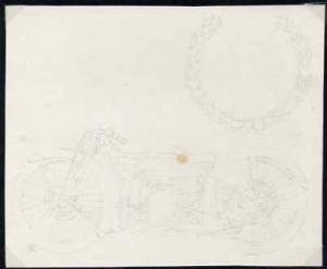 Isle of Man 1975 original pencil sketch artwork by John N...