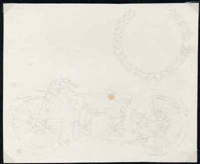 Isle of Man 1975 original pencil sketch artwork by John N...