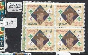 QATAR (PP25060B) SCOUT  SG 215-6  BL OF 4  MNH