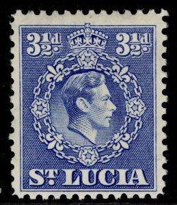 ST. LUCIA GVI SG133b, 3½d ultramarine, M MINT.