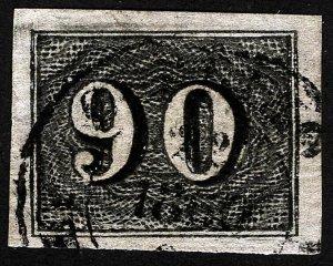 BRAZIL Sc 25 Black 90r Dated 1850 CDS Cancel *Oak Lot