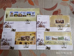 India 2019 Indians in 1st World War Battle Field Memorial Aviation Military FDCs