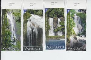 2013 Vanuatu Waterfalls Set of 4 (Scott 1057-60) MNH