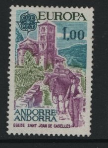 ANDORRA, 254, HINGED, 1977, EUROPA