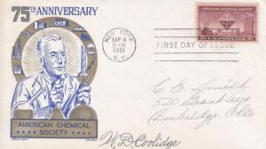 FDC: 75th Anniversary American Chemical Society,  Sep 4, 1951 (14902)