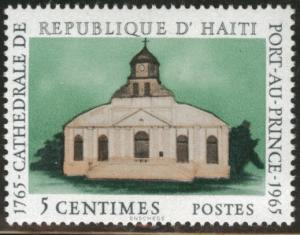 Haiti  Scott 529 MH* 1965 Catherdral stamp