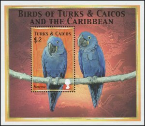 Turks & Caicos Islands 2000 Sc 1302 Birds Parrot CV $7