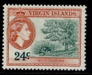 BRITISH VIRGIN ISLANDS QEII SG157, 24c myrtle-green & brown-orange, M MINT.