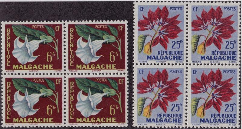 MALAGASY MNH Scott # 301-302 Flowers (8 Stamps) -10