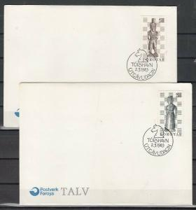 Faroe Is., Scott cat. 93-94. Chess issue. 2 First day covers.