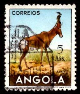 Angola 1953 African Hartebeest Wild Animals 5a Scott.376 Used (#2)