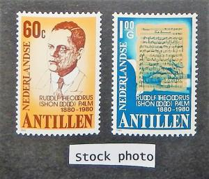 Netherlands Antilles 462-63. 1981 Rudolf Palm, composer, NH