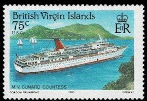 British Virgin Islands 1986 Ships MNH