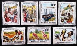 1981 Rwanda 1152-1158 Fauna and culture of Africa 6,00 €