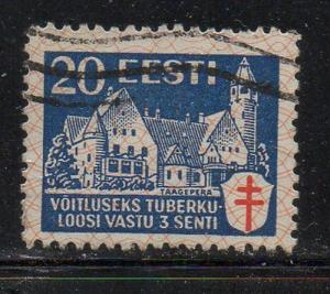 Estonia Sc B27 1933 20s +3s anti TB stamp used