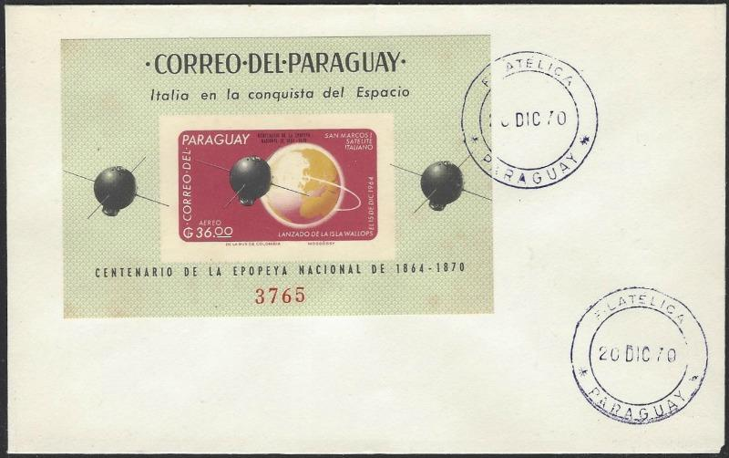 Paraguay Mi Block #88 on 1970 Cover