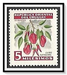 Uruguay #605 Ceibo National Flower MNH