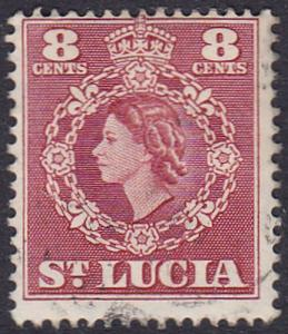 St Lucia 1953 SG178 Used