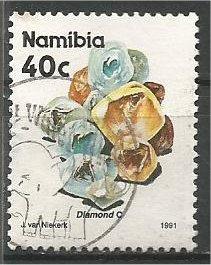 NAMIBIA, 1991, used 40c, Minerals. Scott 683