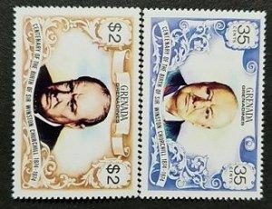 Grenada MNH 571-2 Winston Churchill