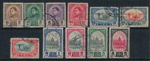 Thailand #243-53  CV $35.20