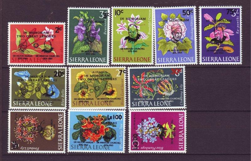 J24463 JLstamps 1965 sierra leone set mnh #300-5,c37-41  ovpt,s