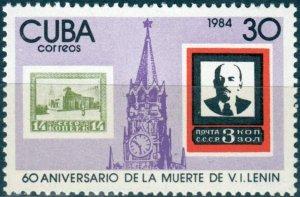 CUBA Sc# 2668  VLADMIR LENIN Russia USSR  1984  mint  MNH