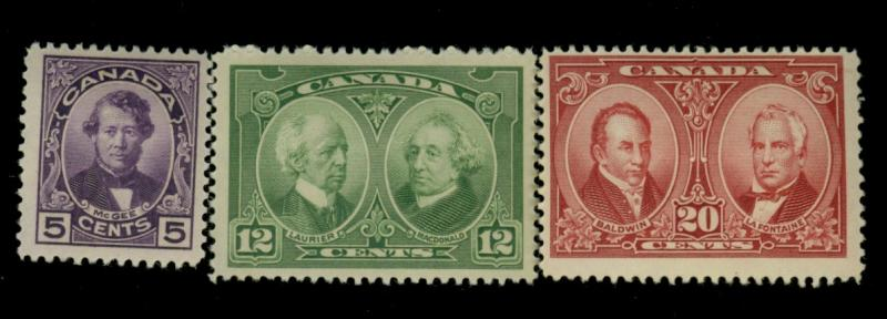 Canada #146-8 MINT F-VF OG HR Cat$41.50