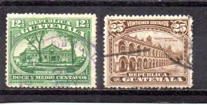 Guatemala 202-203 used