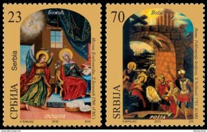 Stamps Serbia, 2015, Christmas, Set, MNH, Mi# 626/27