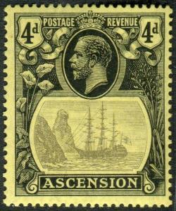 ASCENSION-1924-33 4d Grey-Black & Black/Yellow BROKEN MAINMAST LMM Sg 15a