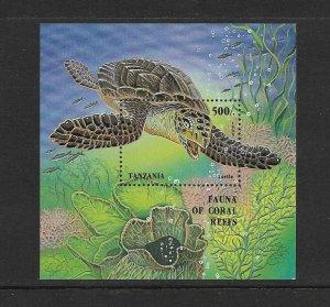 TURTLES - TANZANIA #1411  MNH