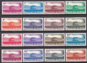 Congo Democratic Republic Sc #498-513 Mint Hinged