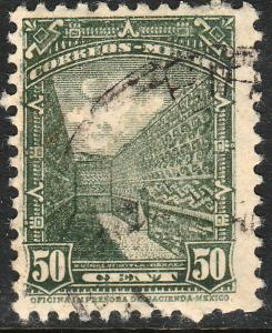 MEXICO 849 50c 1934 Definitive Wmk Gobierno...279 Used (932)
