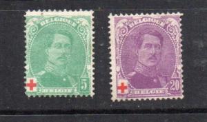 Belgium B25,B27 Mint CV $20