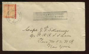 Canal Zone Scott 3 Overprint Used Stamp On Cover with PSE Cert (Stock CZ3-pse1)