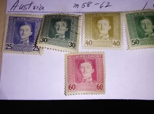 AUSTRIA  MILITARY STAMPS FROM 1918