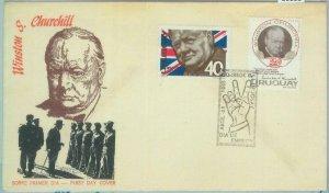 86111 - URUGUAY - POSTAL HISTORY - FDC  COVER 1966: Wiston CHURCHILL war politic