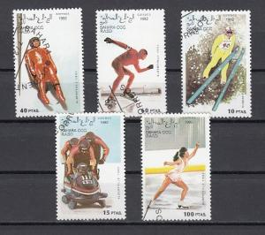 Sahara, 1992 Cinderella issue. Winter Olympics issue. Canceled, C.T.O.