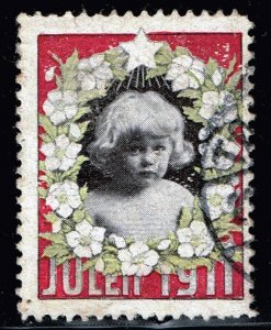 NORWAY STAMP NORGE. VIÑETA. JULEN 1911 CHRISTMAS USED STAMP